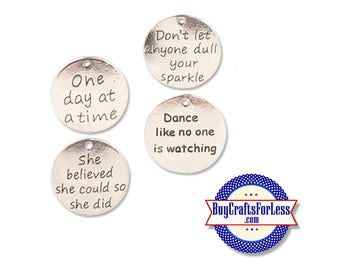 INSPIRATION Affirmation Charms, 4 styles, 4, 8, 12 pcs +FREE SHiPPiNG & Discounts*