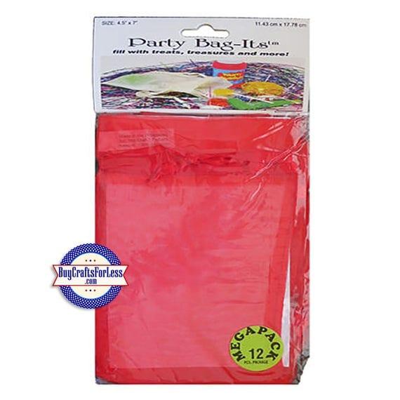 "Sheer Organza Bag-its, 72 pcs 4 1/2"" x 7"", Red +FREE SHIPPING & Discounts*"