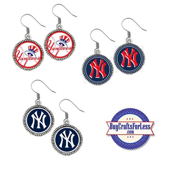 New YORK Baseball EARRINGS, CHooSE Logo - Super CUTE!  +FReE SHiPPiNG & Discounts*