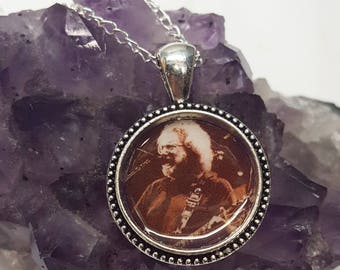 Grateful Dead Necklace/Jerry Garcia Necklace/Grateful Dead Jewelry/Jerry Garcia Band/Dead Head/Grateful Dead Bears/Hippie Gifts/Dead Head