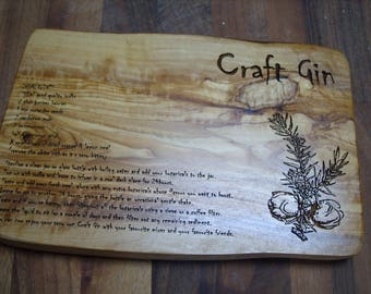 Olive Wood- Craft Gin - Chopping Board