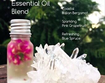 Massage Essential Oil Blend || Blue Spruce, Pink Grapefruit, & Bergamot || Invigorate, Energize ||