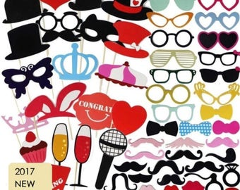 80PCS Wedding, Birthday Photo Booth Props, Party Props, Photo Booth Props, Party Supplies, Party Decor, Party, Photo props, Wedding Props