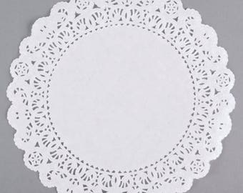 "8"" 100PCS White Paper Lace Grease Proof Doilies, Paper Doilies, Doily, Lace Doily, Lace Doilies, Grease Proof Doilies, White Lace Doily"