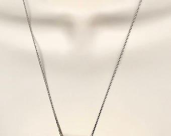 Art Deco necklace pendant, rainbow swarovski Art Deco necklace pendant, silver chain with rectangular pendant