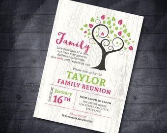 Family Reunion Invitation Family tree invitation Reunion Invitation Family Party Reunion Invitation Family Reunion Party Invitation