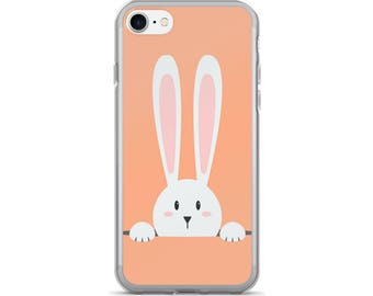 Rabbit iPhone Case, Phone Case Rabbit, Rabbit Phone Case, Protective iPhone Case, iPhone 7 Case, iPhone 6 Case, iPhone 5 Case, Bunny Gift