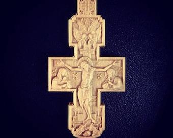 Orthodox hornbeam cross #4