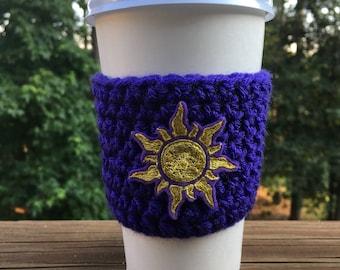 Tangled Inspired Sun Crochet Coffee Cozy