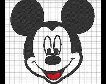 Mickey Head embroidery design