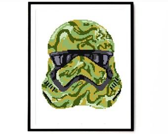 Star Wars cross stitch pattern, movie cross stitch pattern, imperial soldier Star Wars cross stitch pattern, modern cross stitch, pdf