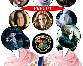 Harry Potter pre-cut edible cupcake toppers, 2 sizes, 4 choices
