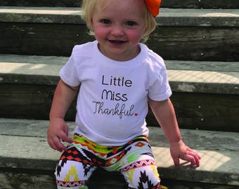 Little miss thankful, Thanksgiving toddler shirt, Thanksgiving shirt for toddlers, Thanksgiving toddler girl, toddler thanksgiving clothes