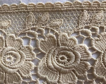 Lace between two cotton