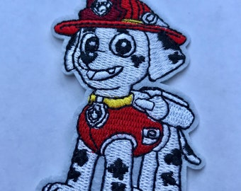 Marshall inspired iron on patch, Marshall Paw Patrol iron on patch inspired
