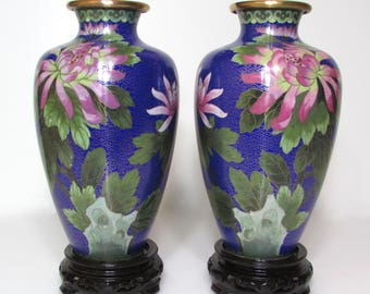 Pair of cloisonne vases china