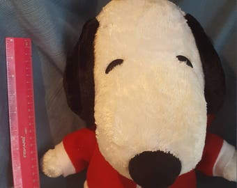 Snoopy and Woodstock Plush  wearing Macy's Sweatshirt