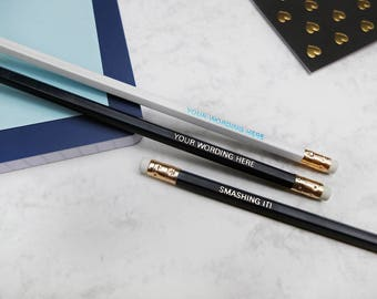 Branded Pencils, Personalised | Company Name, Blog, Website, Shop, Your Name | Promotional Pencils | Pencil Set | Office Desk Gift