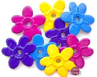 12 eyelets quicklets flowers 3 colors 20 mm eyelets scrapbooking cardmaking