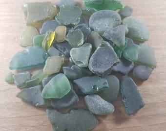 Beach Glass, Mosaic Beach Glass, Genuine Beach Glass, Craft Beach Glass, Green Beach Glass, Genuine Sea Glass, Craft Sea Glass