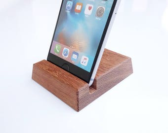 Wood iPhone Stand for iPhone 6/6S, 7/7S 8/8S. iPhone X Stand. Wooden iPad Stand for iPad 3, Air, Air 2, Pro
