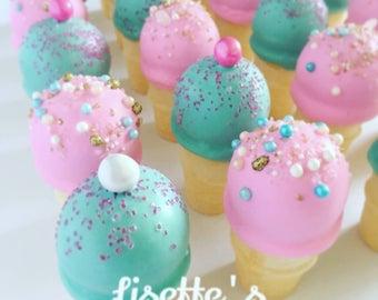 Ice Cream Cone Cakepops