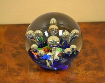 Art Glass Bubbles Paperweight