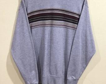 Rare!!! Vintage Hang Ten Sweatshirt Hang Ten Stripes Surfboards Hawaiian Hip Hop Swag