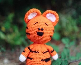 Plush Tiger, Crochet Tiger Toy, Amigurumi