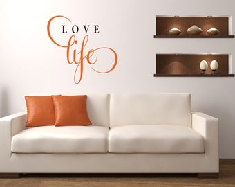 Love Life Multi-Colored Home and Family Vinyl Wall Quote