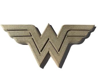 3D Printed Wonder Woman Brooch (Bronze version)