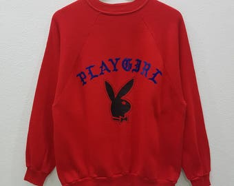 RARE!! Vintage PLAYGIRL Sweatshirts Big Logo Spell Out Jumper Pullover Crewneck Nice Design