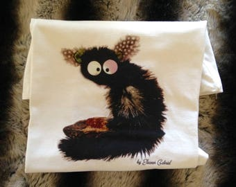 T-shirt for girls with cute lemur