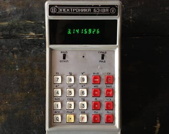 The first Soviet engineering electronic calculator, produced since 1976. With modification - charging from USB!