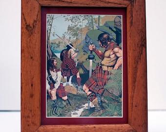 Highland MacGregor Clan Framed