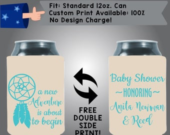 A New Relationship is About to Begin A Baby Shower Honoring Parents Collapsible Fabric Baby Shower Can Cooler Double Side Print (BS79)