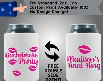 Bachelorette Party Name's Final Fling Collapsible Fabric Bachelorette Party Cooler Double Side Print (Bachelorette41)