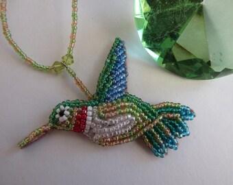 Hummingbird Beaded Necklace