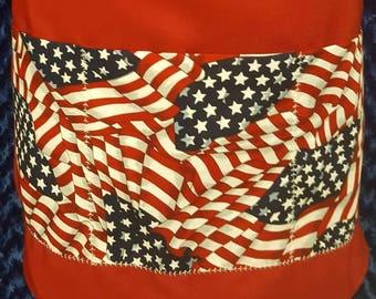 Patriotic Apron, BBQ apron, His/Her Apron, Holiday Apron