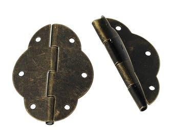 5 hinge brass antique 5.0 x 3,5 cm