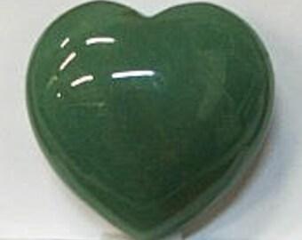 Heart in 40mm Aventurine Stone