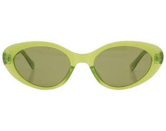 Green Frame Vintage Sunglasses