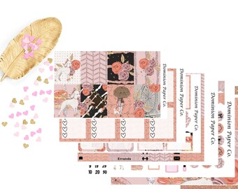 Oy With the Poodles Already Soft Rose Gold Fall Erin Condren & Plum Paper Planner Weekly Kit