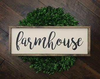 Farmhouse Sign | Wood Sign | Farmhouse Decor | Farmhouse Style | Farmhouse Home Decor | Wood Framed Sign | Wood Farmhouse Sign | Fixer Upper