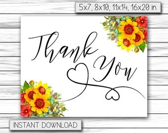 Greeting Cards, Friendship Cards, Thank You Card, Printable Thank You, Birthday Thank You, Thanks Sign, Instant Printable DIGITAL FILE, JPG