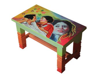 Wooden Painted Filmy Table