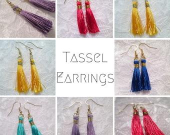 Tassel Fringe Earings: Select A Color