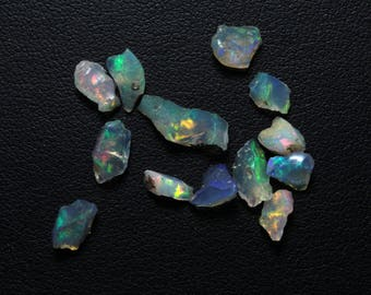ON SALE 10% Off Opal Rough Gemstone Natural Ethiopian Opal Multi Fire Opal Rough Gemstone 13 PCs Lot 4x5mm To 5x10mm Loose Gemstone@DG4