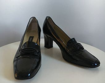 Bally patent loafers