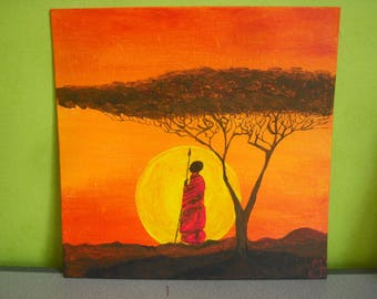 Acrylic paint: African sunset